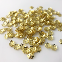 400 Gold Plated 8mm Filigree Bead Caps Findings